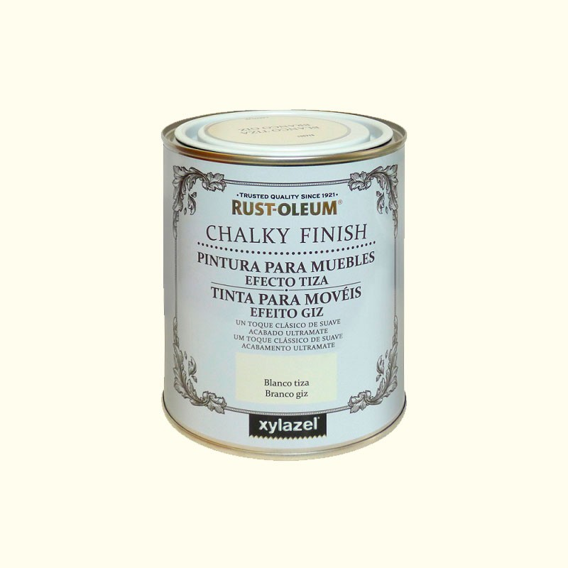 Usos de la pintura chalk paint o efecto tiza for Pintura para muebles efecto tiza