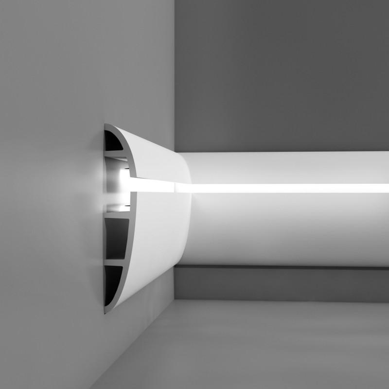 C mo conseguir un elegante dise o de luz indirecta - Cornisas para luz indirecta ...