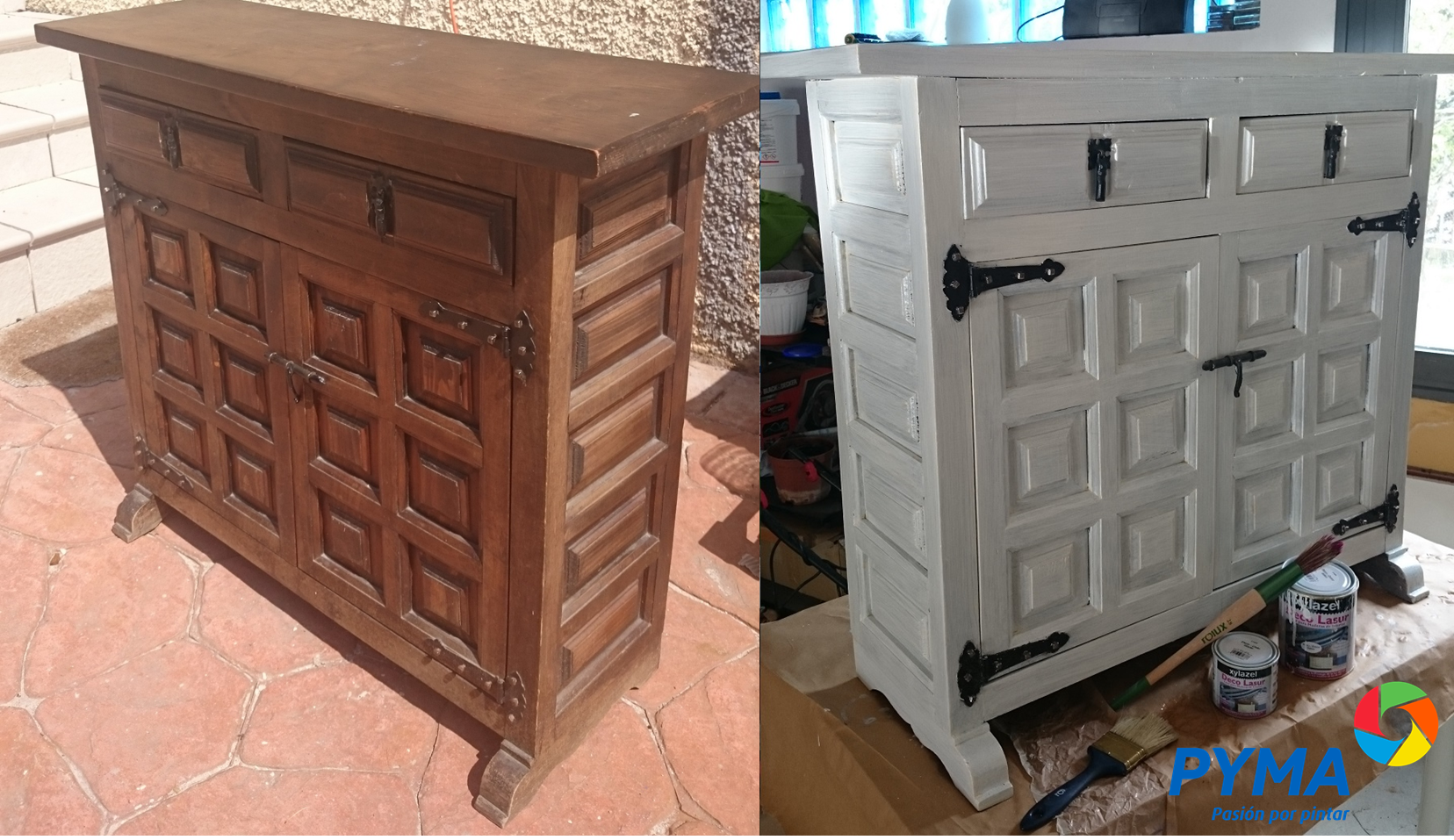 Diy Restaurando Un Mueble De Madera Antiguo # Como Secar Muebles Mojados