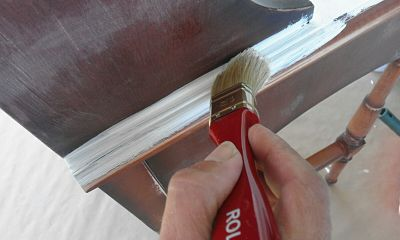 pintar un escritorio con pintura a la tiza