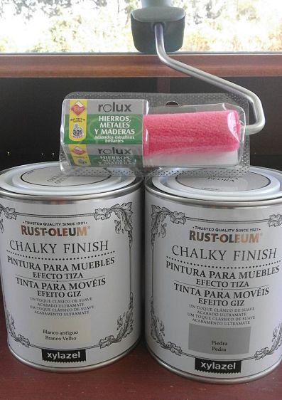 escritorio con pintura a la tiza