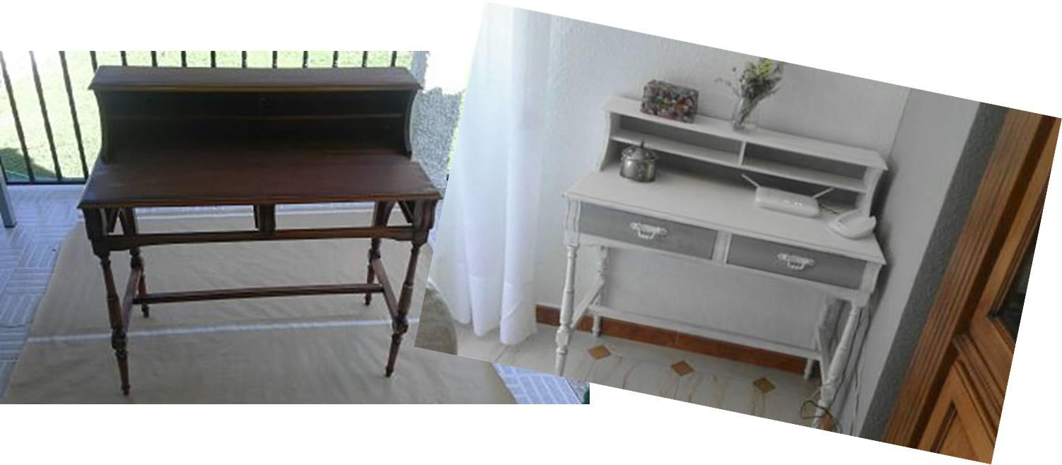 Restaurar un escritorio con pintura tiza